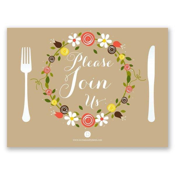 Sweet Florals Petite Rehearsal Dinner Invitation