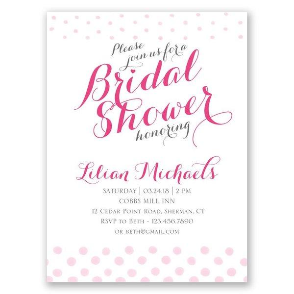 Polka Dot Fade Petite Bridal Shower Invitation