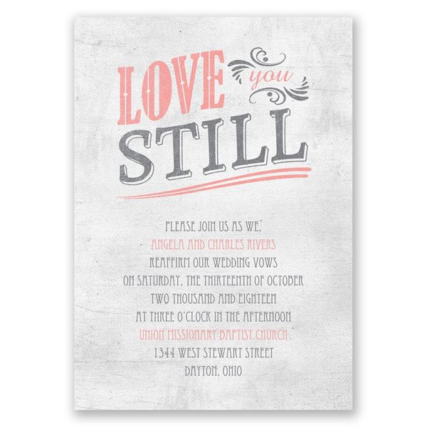 Love You Still Vow Renewal Invitation