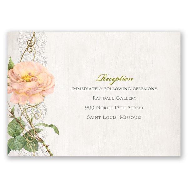 Boho Beauty - Gold - Foil Reception Card
