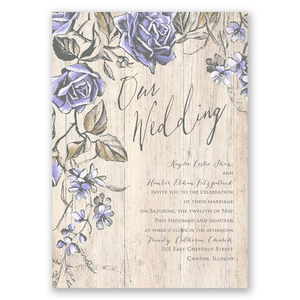 Rustic Rose Invitation
