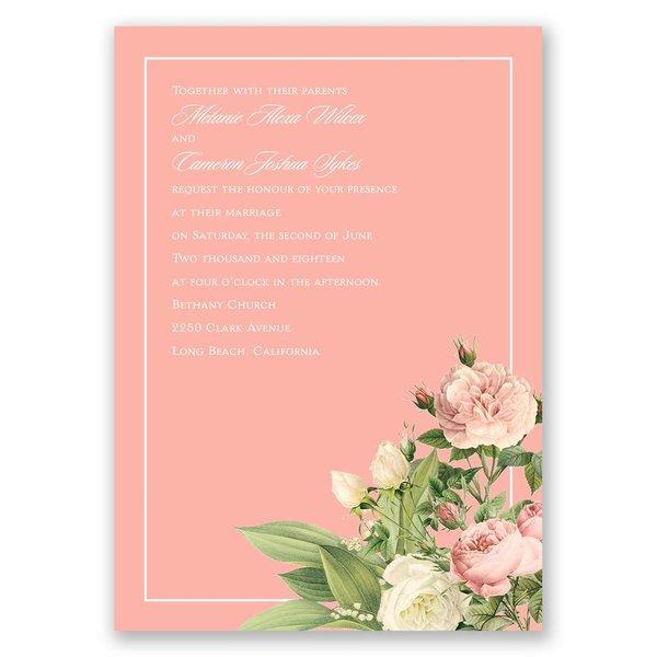 Brilliant Blossoms Invitation