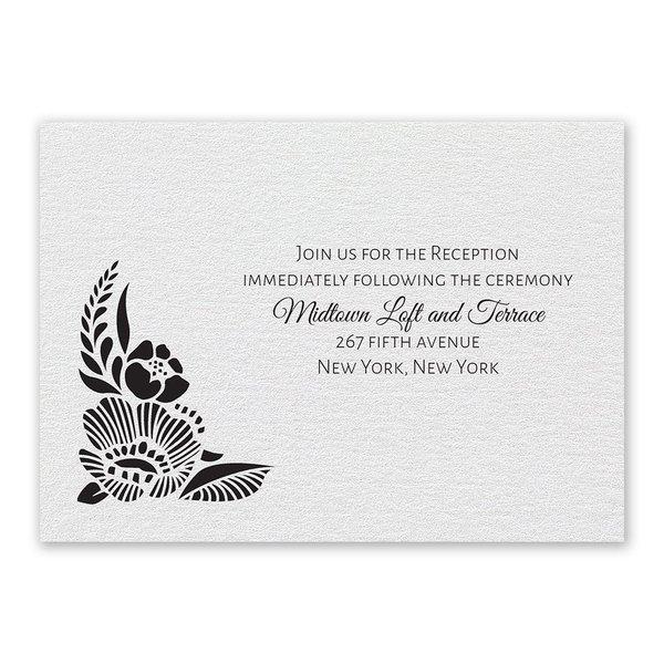 Woodland Window Reception Card