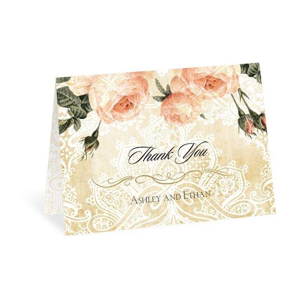 Vintage Garden Foil Thank You Card
