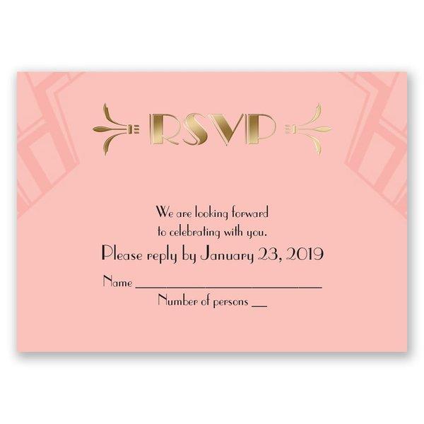 Love Captured - Gold - Foil Response Card