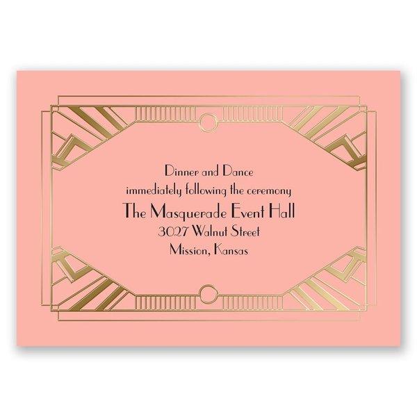 Love Captured - Gold - Foil Reception Card