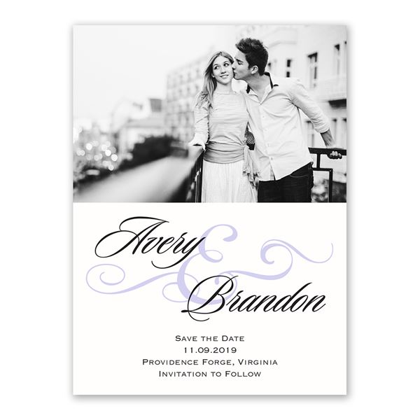 Modern Beauty Save the Date Card