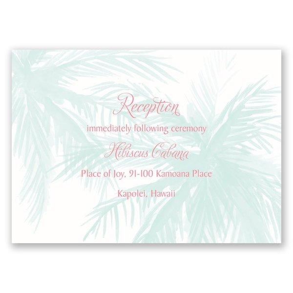 Palm Tree Passion Reception Card