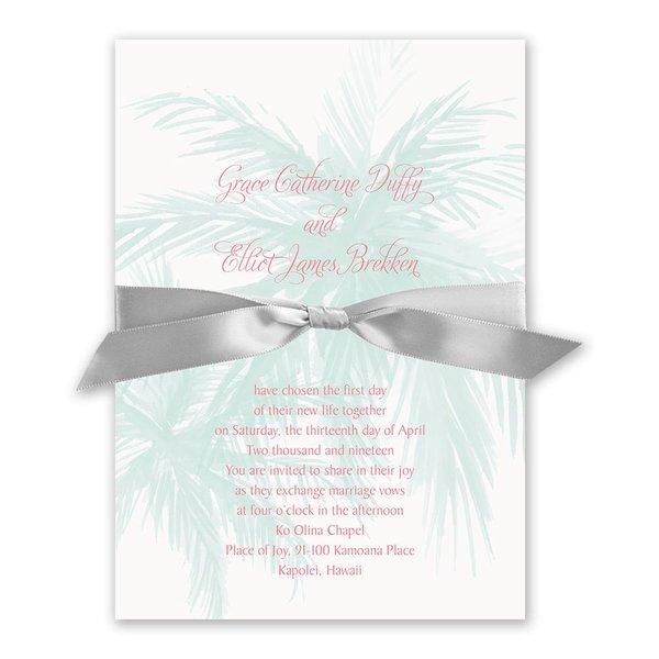 Palm Tree Passion Invitation