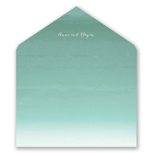 Sea Beauty - Aqua - Designer Envelope Liner