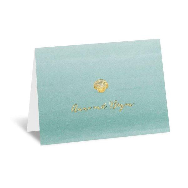 Sea Beauty - Aqua - Foil Thank You Card