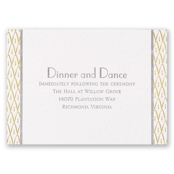 Sweet Surprise Letterpress and Foil Reception Card