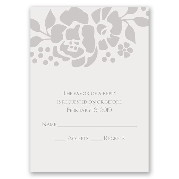 Floral Extravagance Response Card