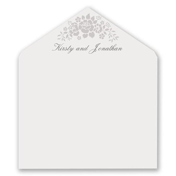 Floral Extravagance Designer Envelope Liner