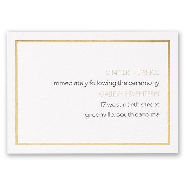 Gold Lining Reception Card