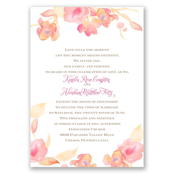 English Rose Invitation