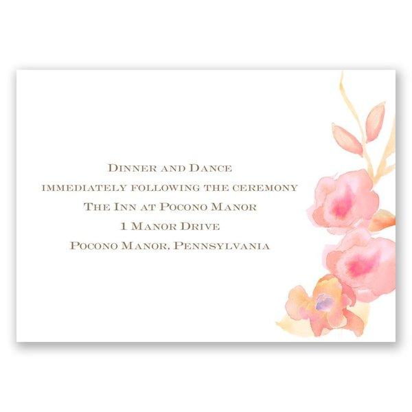 English Rose Reception Card