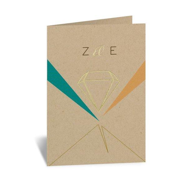 Pretty Prisms - Gold - Foil Thank You Card
