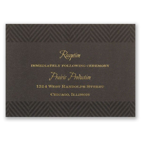 Truly Distinguished Reception Card