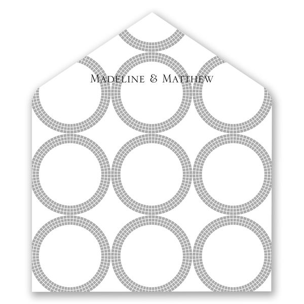 Mosaic Rings Designer Envelope Liner