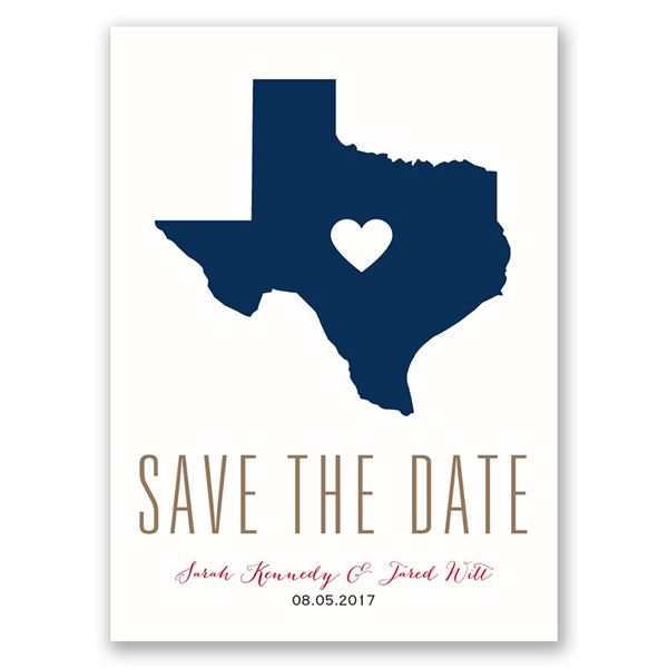 State the Date - Save the Date Postcard