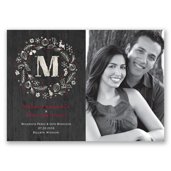 Rustic Holiday Holiday Card Save the Date
