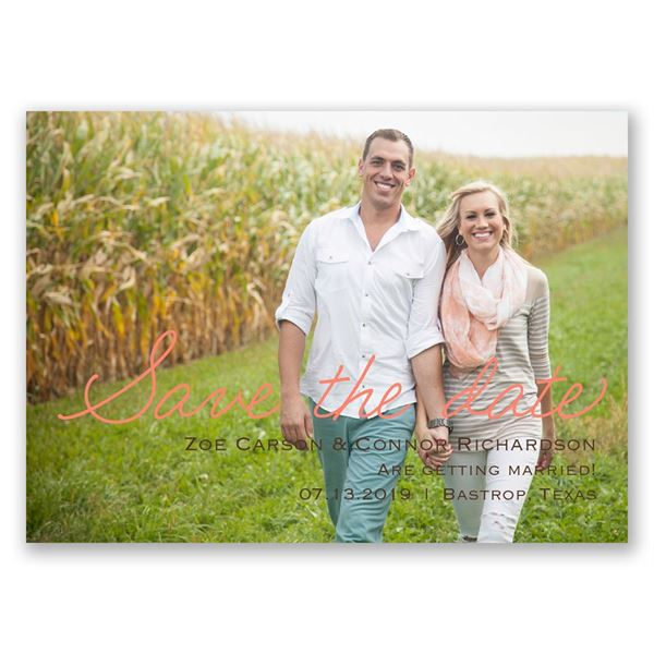 Casual Charm Save the Date Magnet