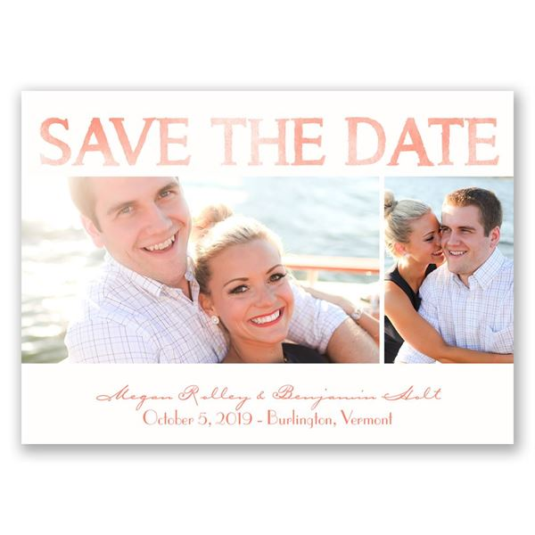 Modern Watercolor Save the Date Magnet