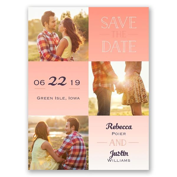 Blocks of Color Save the Date Card