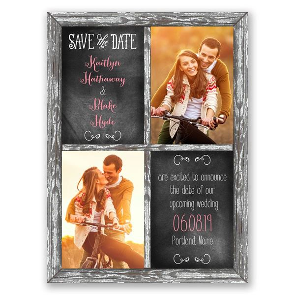 Crafted Window Save the Date Card