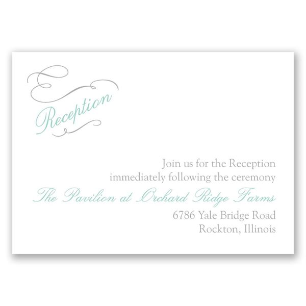 Sophisticated Swirls Reception Card