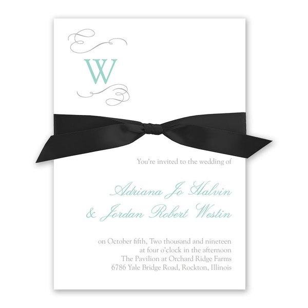 Sophisticated Swirls Invitation