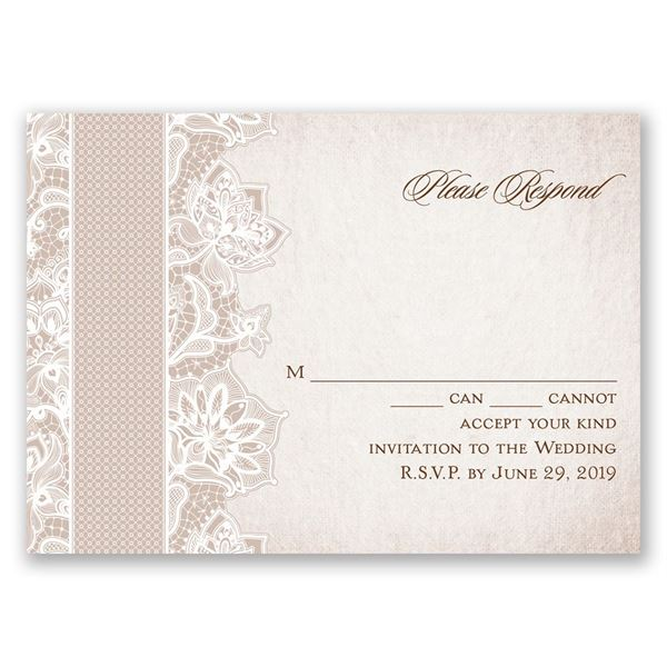 Lace Lining Response Card