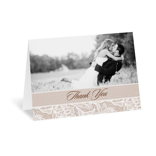 Lace Lining Thank You Card