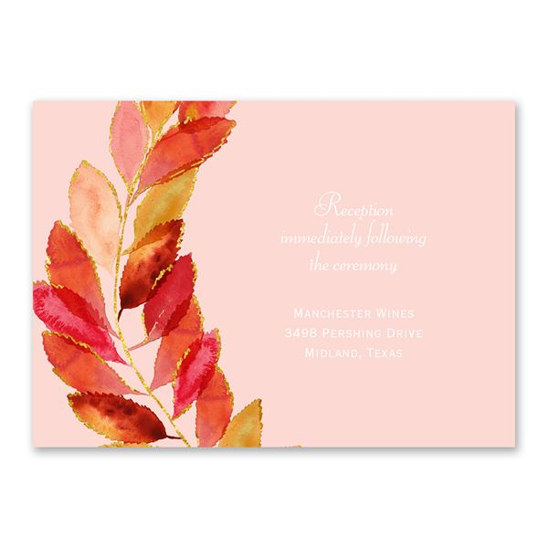 Feathered Fall Reception Card