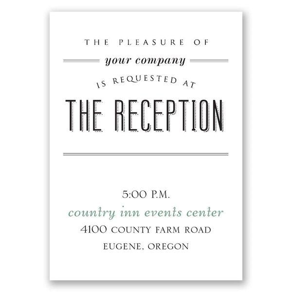 A Wedding Celebration Reception Card