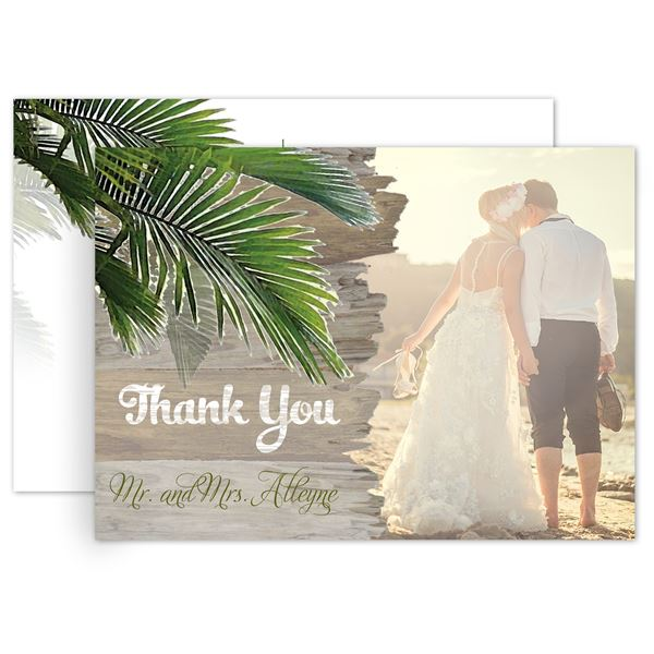 Palm Tree Paradise Thank You Postcard
