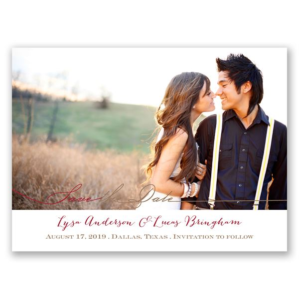 Simply Inviting Save the Date Card