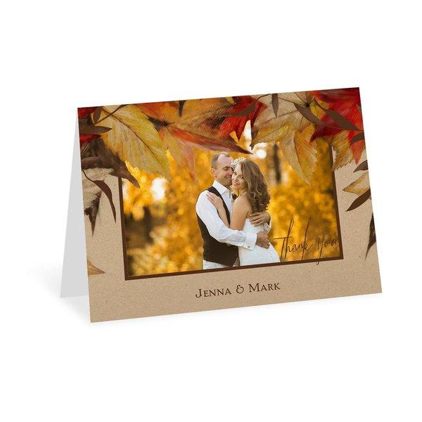 Autumn Maple Thank You Card