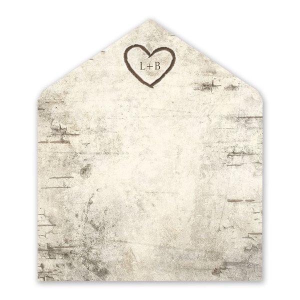 Birch Tree Carvings Envelope Liner