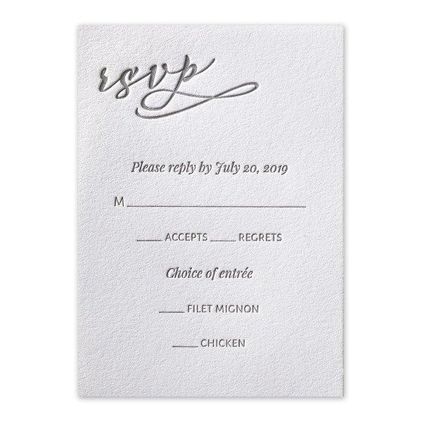 Modern Pair Letterpress Response Card