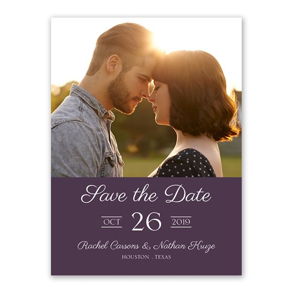 Vintage Flair Save the Date Card