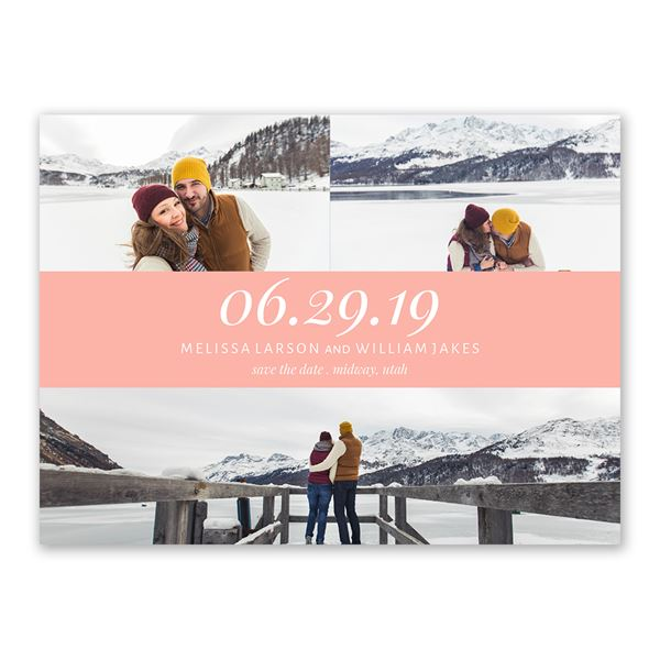 Romantic at Heart Save the Date Card