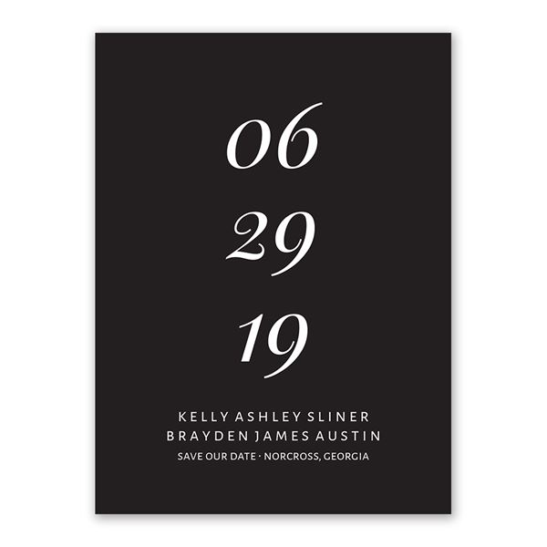 Perfectly Mod Save the Date Card