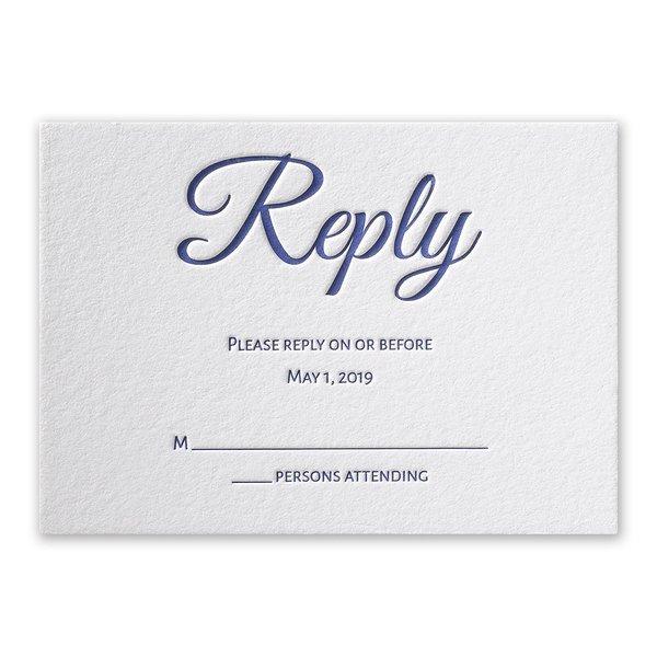 Modern Charm Letterpress Response Card