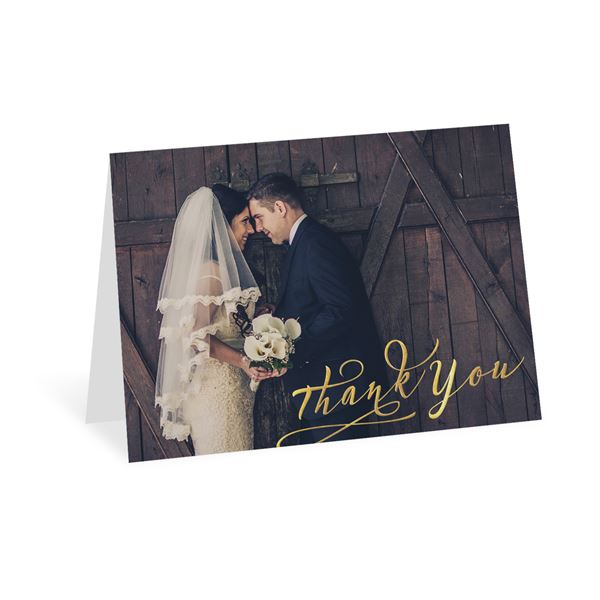 Rustic Glow - Gold Foil - Thank You Card