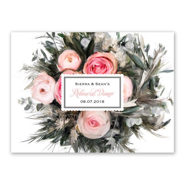 Ethereal Garden Petite Rehearsal Dinner Invitation