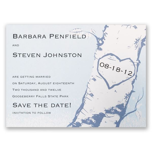 Tree Save the Date Card