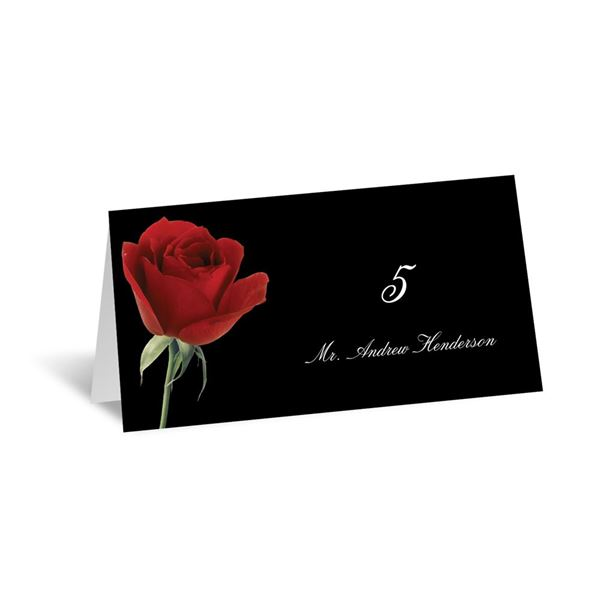 Rose Red Escort Card
