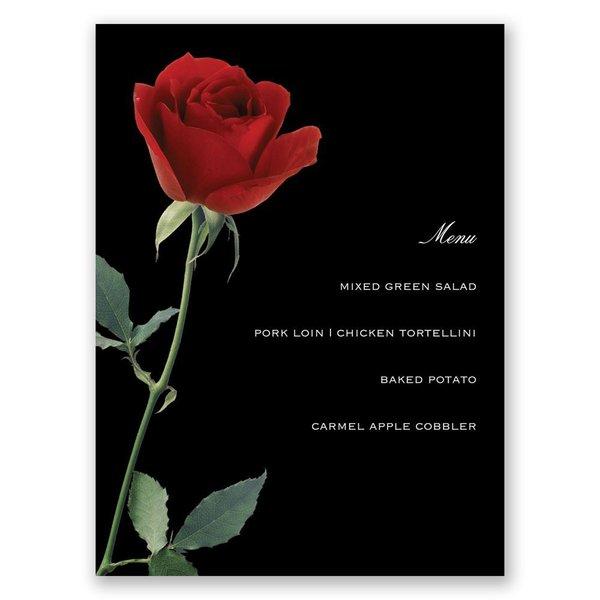 Rose Red Menu Card